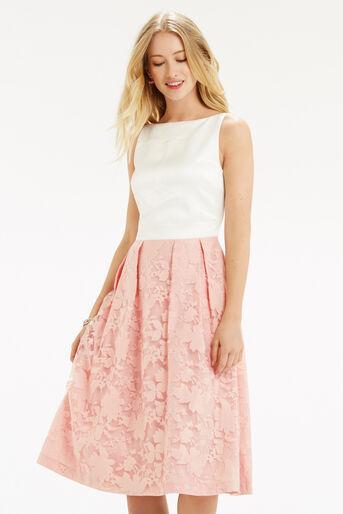 Oasis, Organza Midi Dress Multi Pink 1