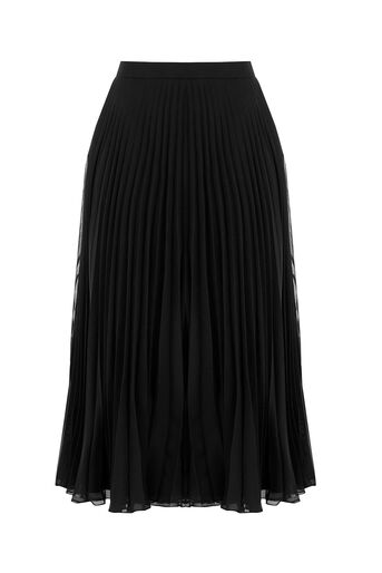 Oasis, Pleated Skirt Black 0