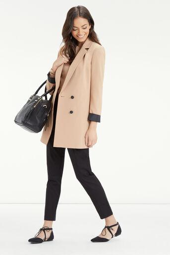 Oasis, Compact Cotton Trouser Black 2