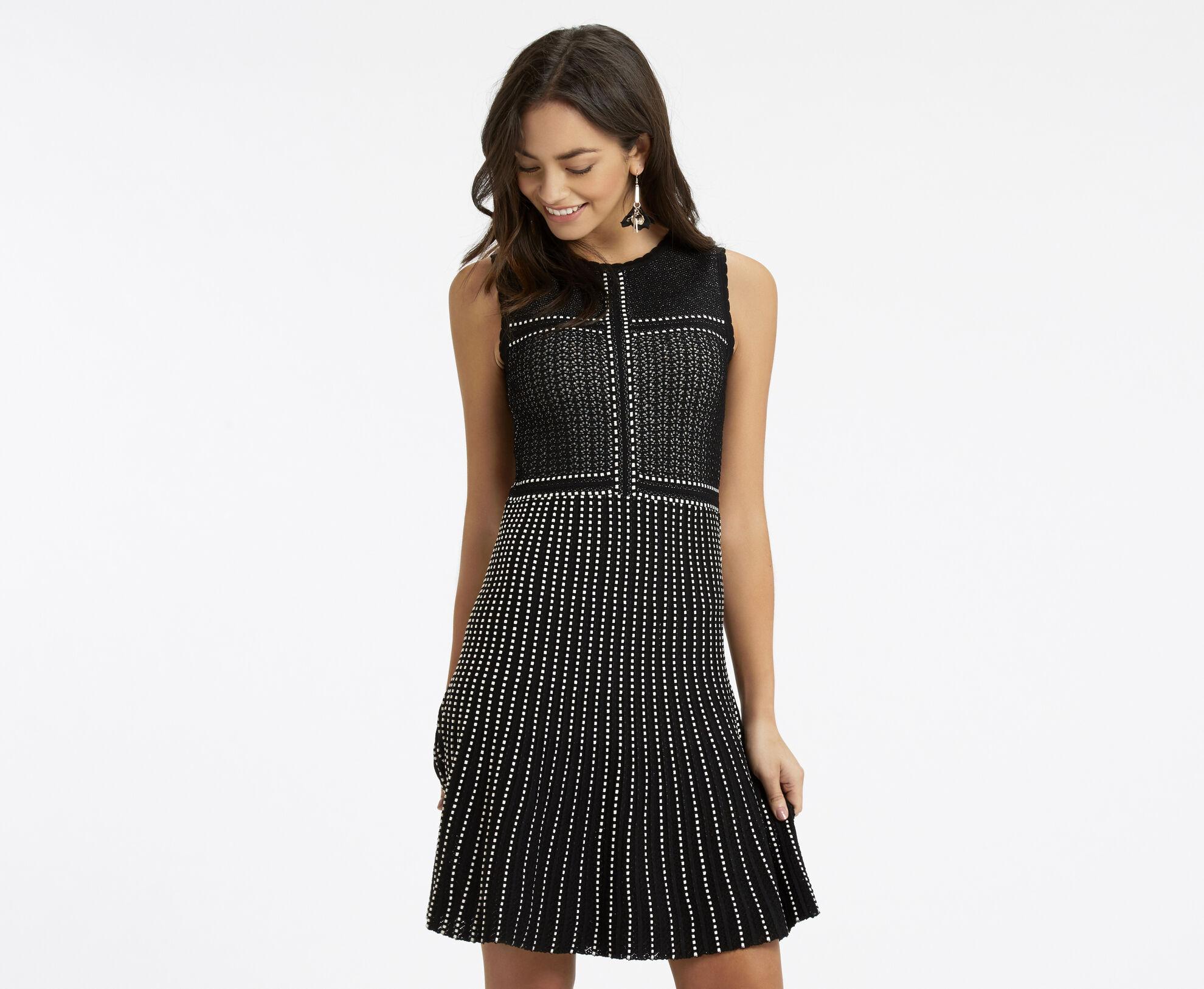 Oasis, Lace Compact Statement Dress Black 1