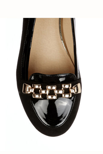 Oasis, Lauren Chain Loafer Black 3