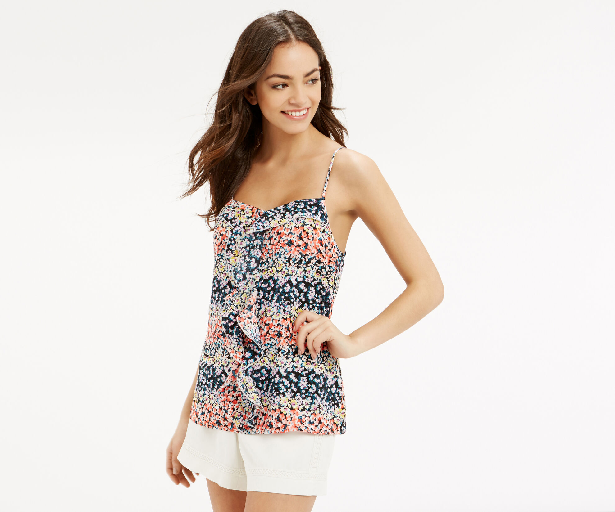Oasis, DITSY FRILL CAMI Multi 1