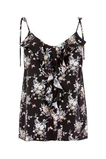 Oasis, DITSY FLORAL CAMI Multi Black 0