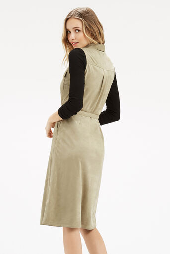 Oasis, Suedette Midi Shirt Dress Light Neutral 3