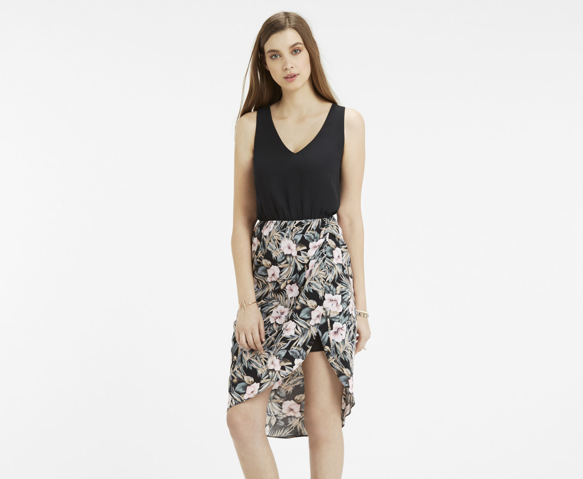 Oasis, Tropical Lace Back 2 For Dress Multi Black 1
