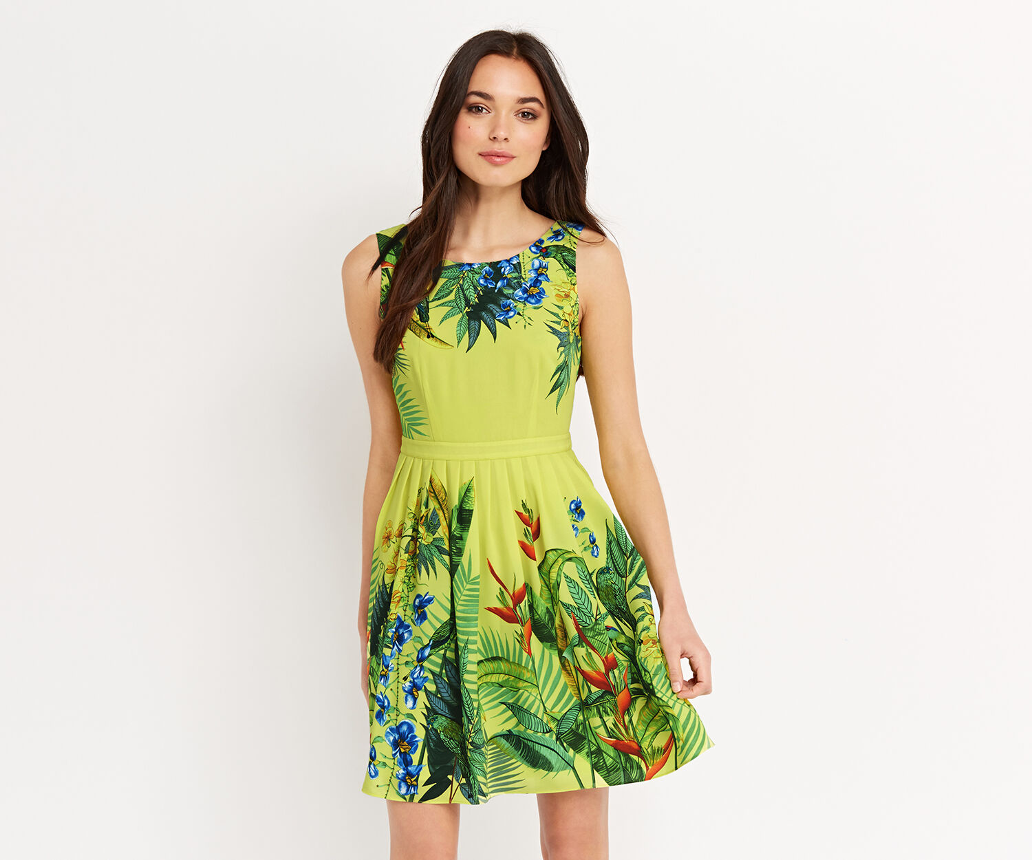 Oasis, TROPICAL PLACEMENT SUNDRESS Mid Yellow 1