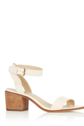 Oasis, BROOKE BLOCK HEEL White 0
