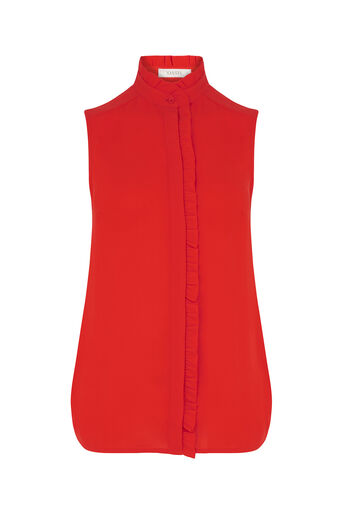 Oasis, Emerald Frill Shirt Mid Red 0