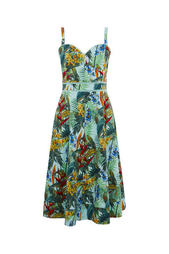 Oasis, TROPICAL CUBA MIDI DRESS Multi 0