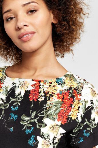 Oasis, T-shirt bouquet d'hiver Noir multicolore 4