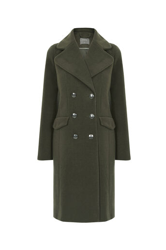 Oasis, THE BUTTON COAT Khaki 0