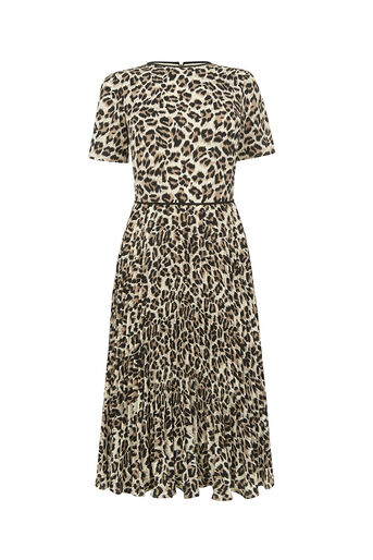 Oasis, ANIMAL PLEAT MIDI DRESS Multi 0