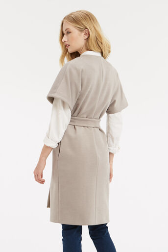 Oasis, Manteau sans manches Lexi Beige moyen 3