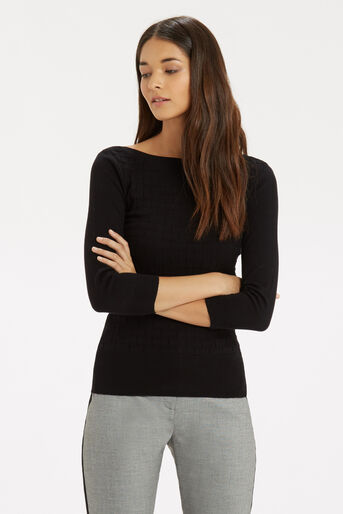 Oasis, The Textured Knit Black 1