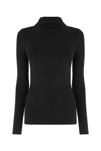 Oasis, FUNNEL NECK TOP Black 0