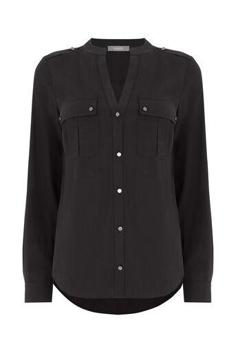 Oasis, Tencel Shirt Black 0