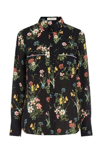 Oasis, WINTER BOUQUET SHIRT Multi Black 0