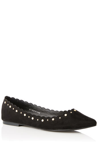 Oasis, POLLY PINDOT PEARL FLAT Black 0
