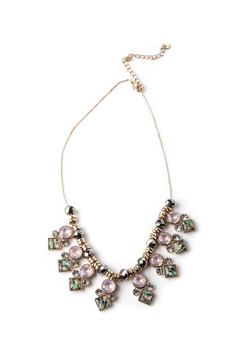Oasis, JEWELLED BLUSH NECKLACE Rose Gold 0