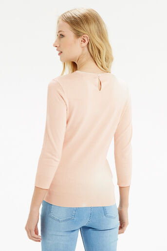 Oasis, Lace Front Knit Pale Pink 3