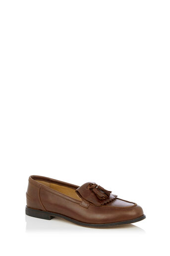 Oasis, LEATHER LOAFER Tan 0