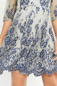 Oasis, 3/4 SLEEVE LACE DRESS Multi Blue 4