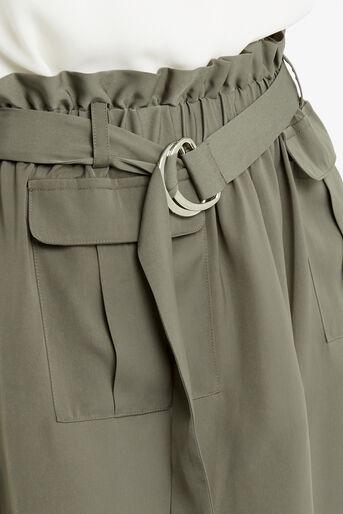 Oasis, Britex Paper Bag Skirt Khaki 4
