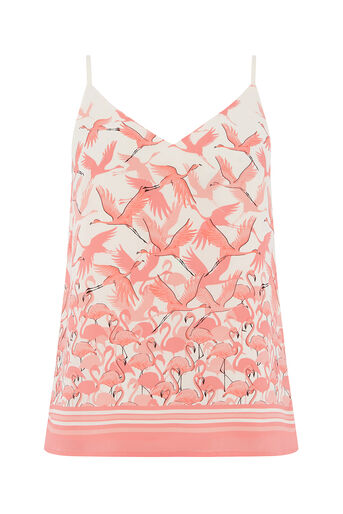 Oasis, FLAMINGO TIE SHOULDER CAMI Off White 0