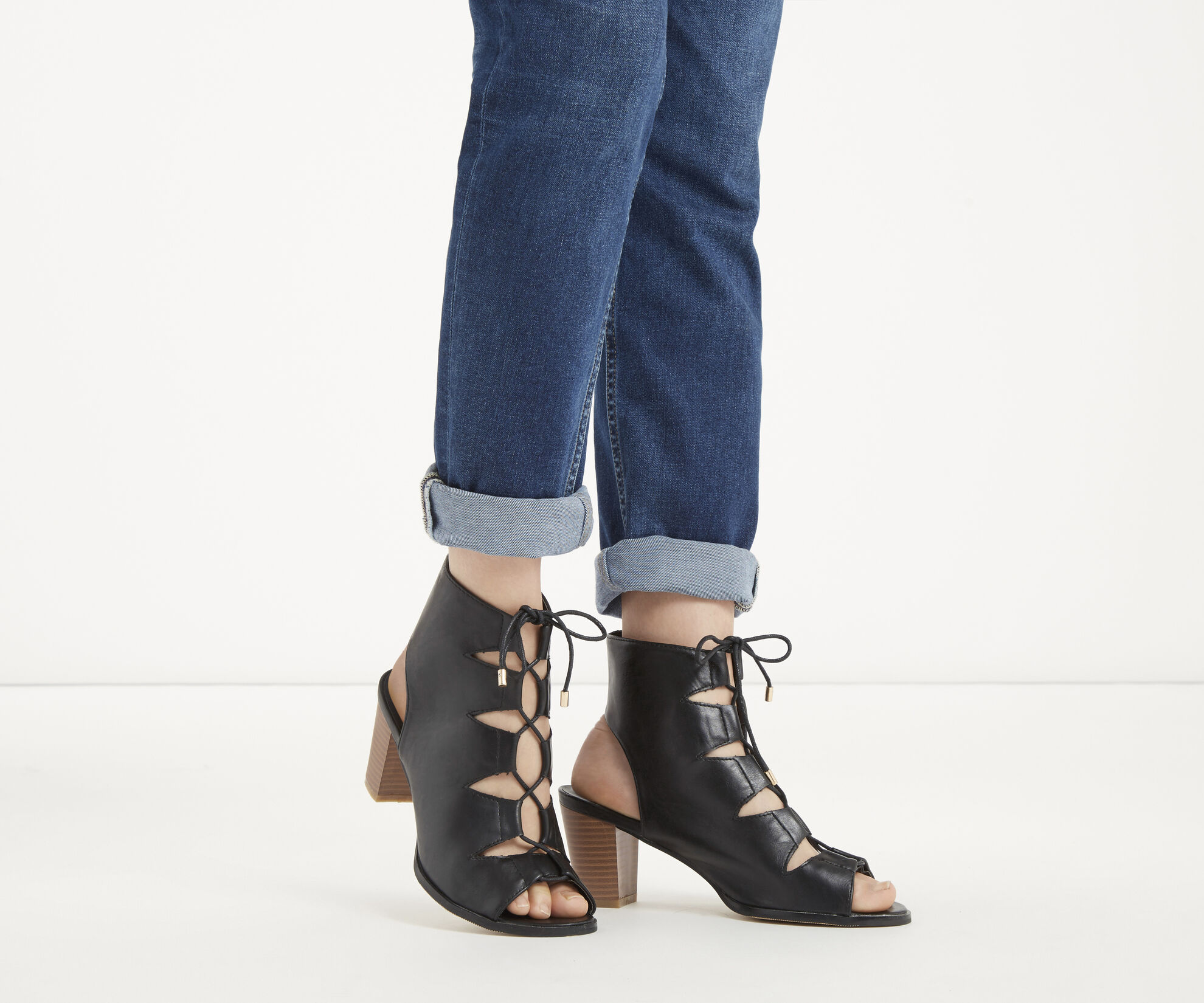 Oasis, The Luxe Lace Up Black 1