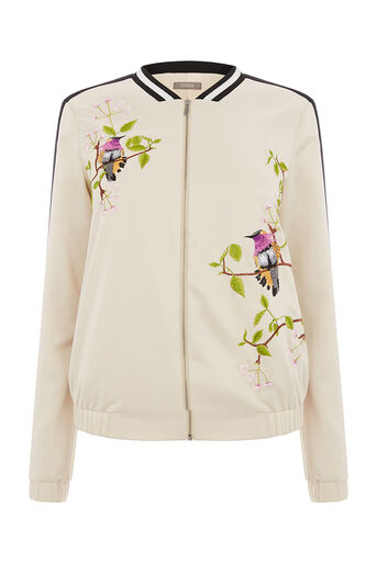 Oasis, TOPAZ BIRD EMBROIDERED BOMBER Multi 0