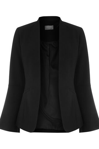 Oasis, BELL SLEEVE JACKET Black 0