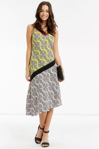 Oasis, Sintra Tile Midi Dress Multi 2