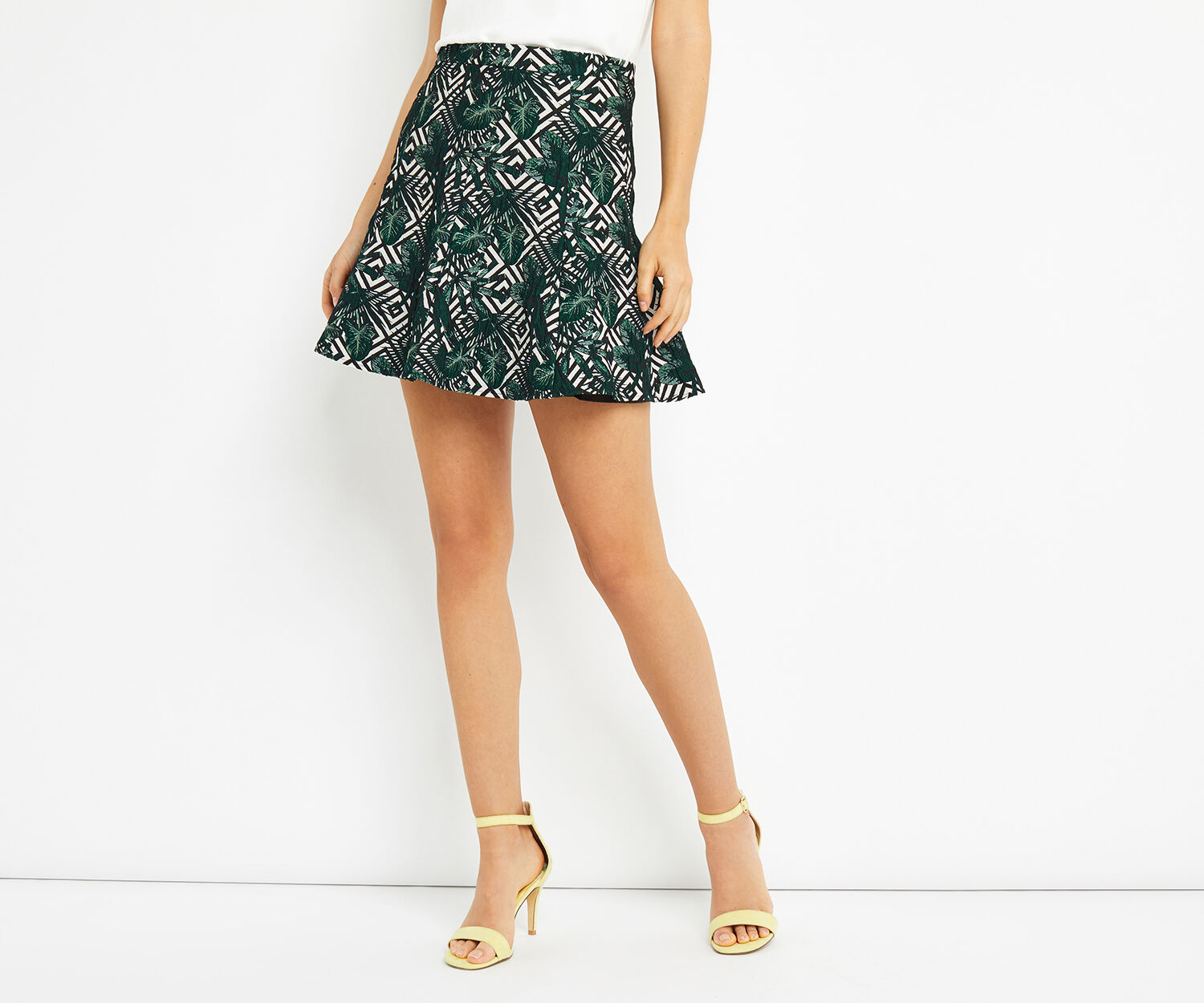 Oasis, TROPICAL GEO FLIPPY SKIRT Multi 1