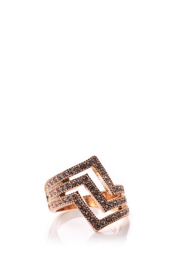 Oasis, TRIPLE STACKED RING Rose Gold 0