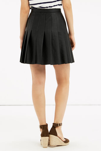 Oasis, FAUX LEATHER SKIRT Black 3