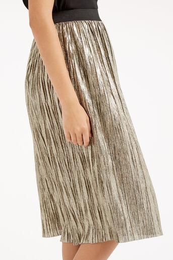 Oasis, METALLIC SKIRT Gold 4