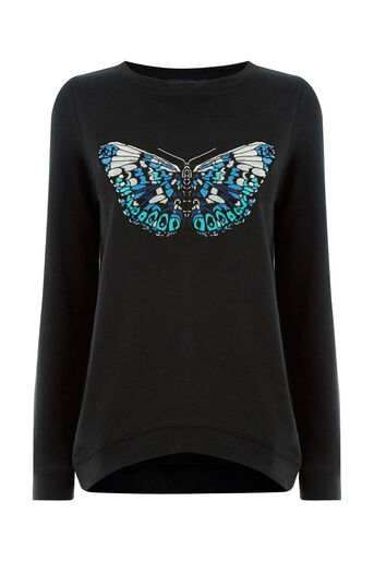 Oasis, FOREST BUTTERFLY SWEAT Black 0