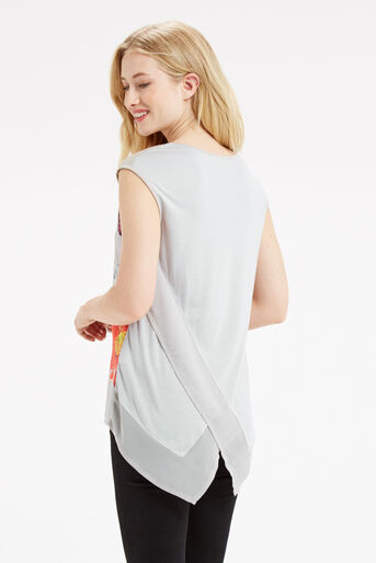 Oasis, BOTANY WRAP BACK TOP Mid Grey 3
