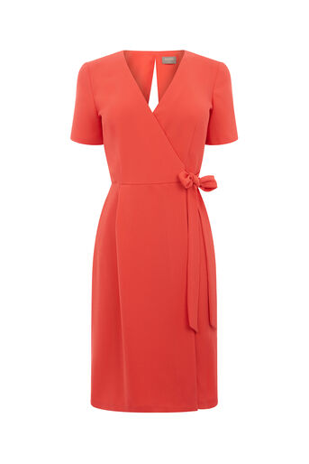 Oasis, WRAP DRESS Coral 0