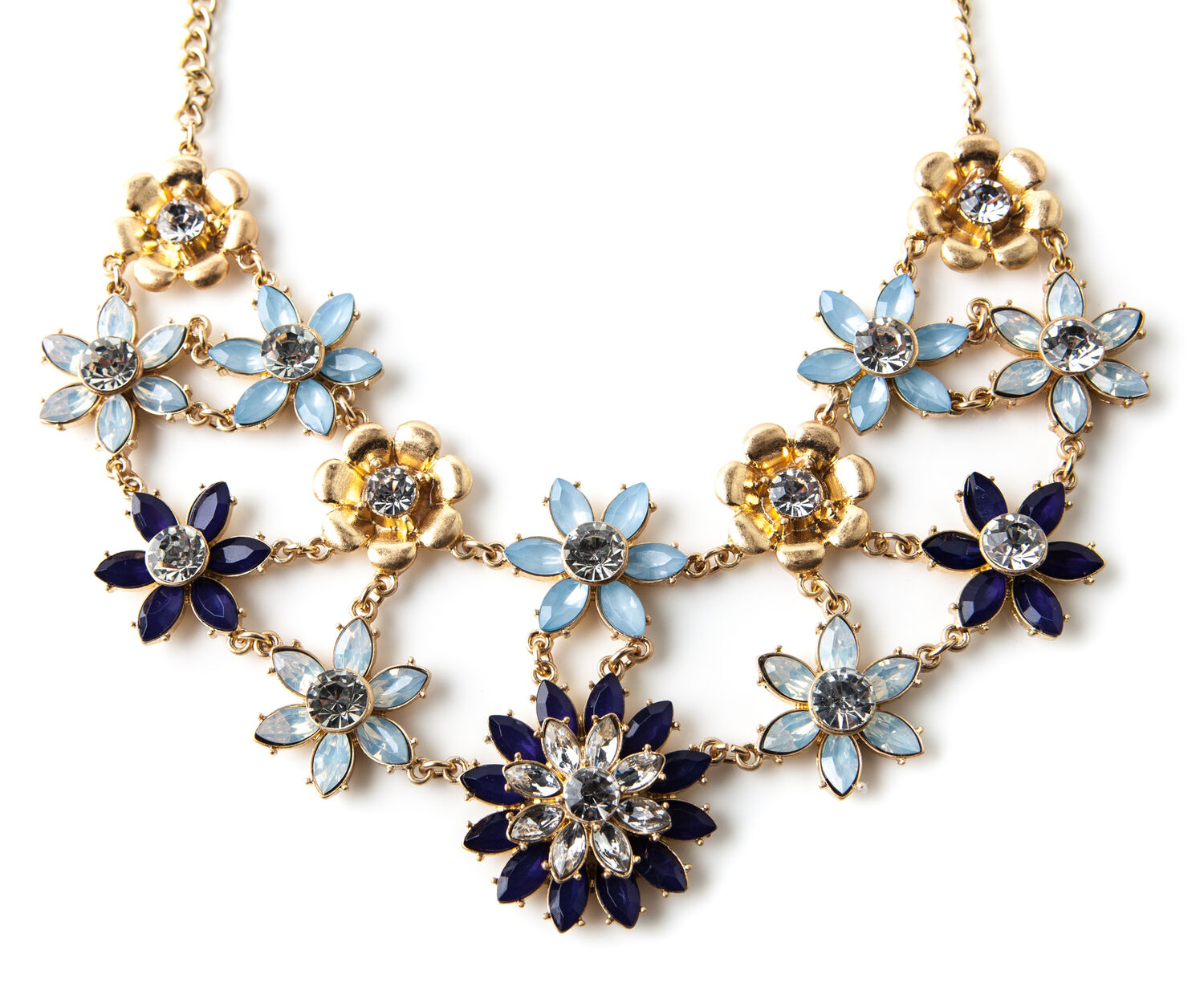 Oasis, STATEMENT FLORAL COLLAR Gold 1