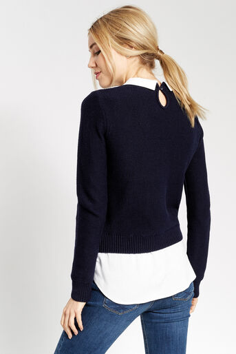 Oasis, SHIRT TAIL SWEATER Navy 3