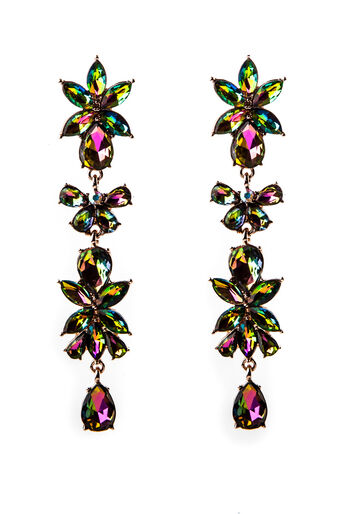 Oasis, PETROL STONE DROP EARRINGS Crystal 0
