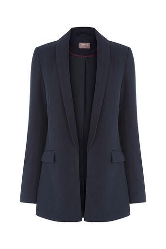 Oasis, Textured Blazer Navy 0
