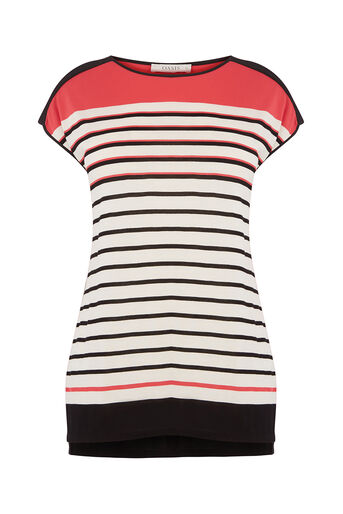 Oasis, BUBBLE STRIPE TEE Multi 0