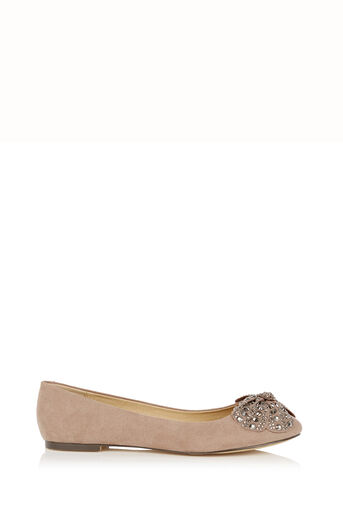 Oasis, Sparkle Bow Ballet Pumps Mid Neutral 0