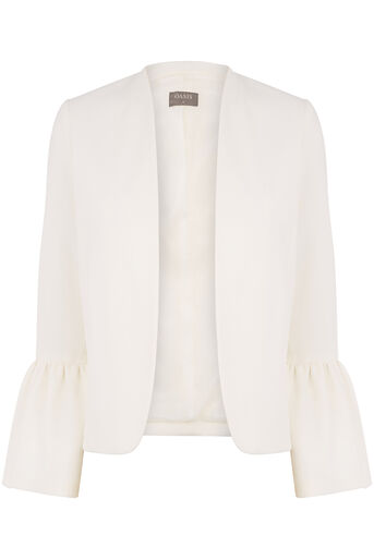 Oasis, FLUTE SLEEVE JACKET Off White 0