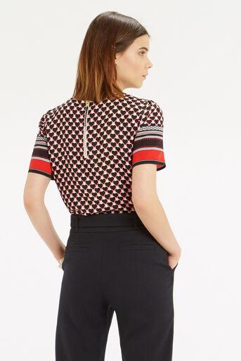 Oasis, Geo Heart Stripe T-Shirt Multi 3