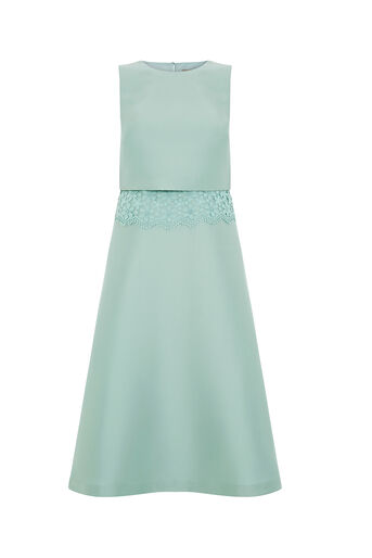 Oasis, 2 IN 1 LACE TRIM MIDI Mid Green 0