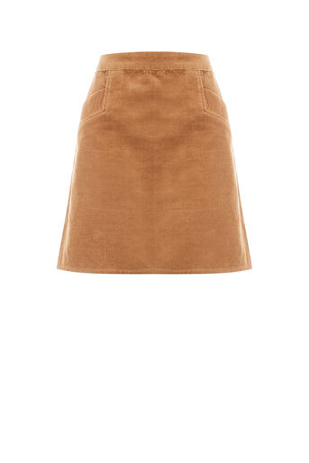 Oasis, CUT ABOUT CORD SKIRT Tan 0