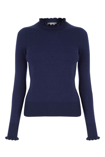 Oasis, THE FRILL KNIT Navy 0